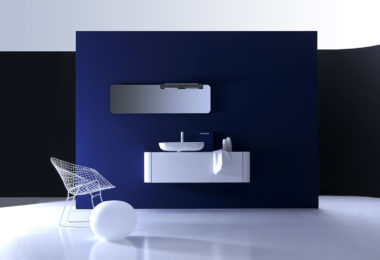 The KO8 is the perfect small bathroom cabinetry solution