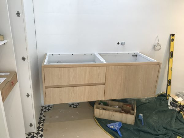 bathroom cabinetry install