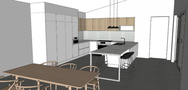 Melville Kitchen Concept drawings by Retreat Design