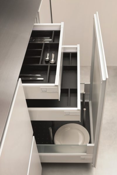 Arrital Project Cabinetry with Essetre Cutlery Organisers
