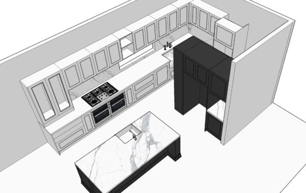3D Kitchen Perspective from Retreat Design